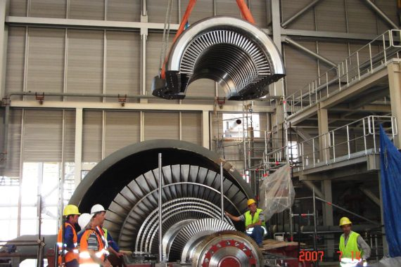 14.Steam turbine erection