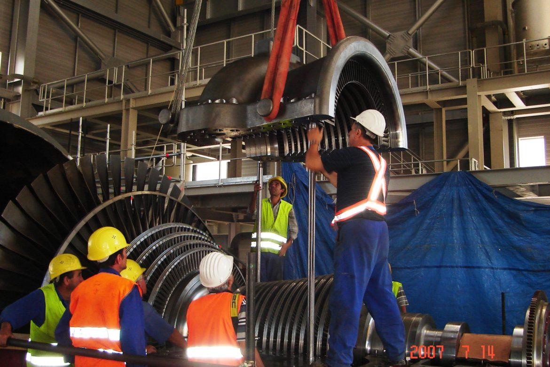 31.Erection of steam turbine